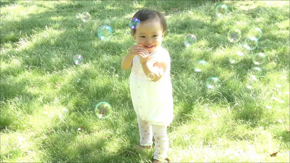 Picture poem - Soap bubbles