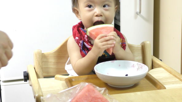 Cute and Funny Baby Eats Watermelon Rind - PART2